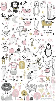 Skandinavisch für Mädchen von JB ART im Kreativmarkt Doodle Drawings, Doodle Art, Cute Drawings, Wallpaper Gatos, Tier Doodles, Animal Doodles, Baby Drawing, Drawing Drawing, Art Tutorials