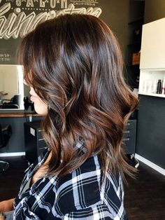 Wavy Glueless Lace Front Wigs Ombre Balayage Color Real Human Hair Density - March 09 2019 at Fall Hair Colors, Brown Hair Colors, Darker Hair Color Ideas, Fall Hair Color For Brunettes, Hair Colours, Hair Color And Cut, Balayage Hair, Balayage Color, Bayalage