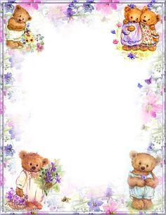Free Printable Stationery, Free Printables, Writing Papers, Stationery Paper, Boarders, Stationary, Journaling, Scrap, Teddy Bear