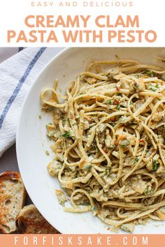 Canned Clam Recipes, Best Seafood Recipes, Shellfish Recipes, Canned Clam Sauce Recipe, Cooking Recipes, Asian Recipes, Pasta Recipes Linguine, Linguine And Clams, Recipes