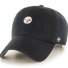 newest ebaaf 5046c NFL Pittsburgh Steelers  47 Brand Black Abate Clean Up Team Adjustable Hat