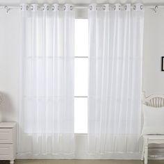 "Deconovo 2 Piece Sheer Window Curtain Grommet Panels, total width 104"" x 95"",White Deconovo http://www.amazon.com/dp/B00WTXP1VY/ref=cm_sw_r_pi_dp_Wbp5vb0QST62K"