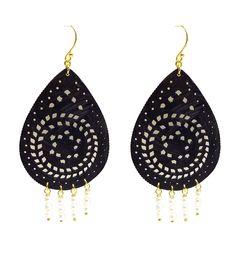 Bone teardrop earrings!