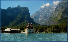 Konigsee - amazing crystal clear lake surrounded by rocky mountains that echo back your sounds.  Beautiful.