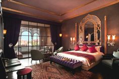 Morrocan bedroom style deco