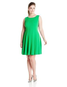 64237ba3f25 Julian Taylor Women s Plus-Size Sleeveless Solid Dress at Amazon Women s  Clothing store