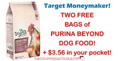 HOT MONEYMAKER! Fido will love you for this! Get TWO FREE Bags of Purina Beyond PLUS make $3.56 on your purchase! Great donation item too, if you don't have a dog! Print your coupons now!  Click the link below to get all of the details ► http://www.thecouponingcouple.com/purina-beyond-dog-food/ #Coupons #Couponing #CouponCommunity  Visit us at http://www.thecouponingcouple.com for more great posts!