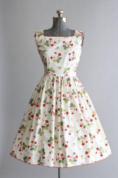 1950's Strawberry Print Dress