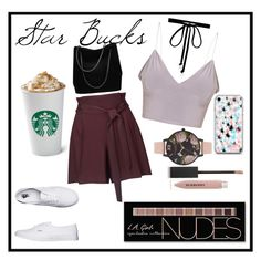 """""""STAR BUCKS"""" by t0xiccr33p on Polyvore featuring Miss Selfridge, Vans, Olivia Burton, Joomi Lim, Burberry, Charlotte Russe and Gucci"""