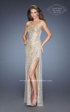 La Femme Prom Style 19125 now in stock at Bri'Zan Couture, www.brizancouture.com