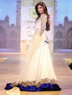Shilpa Shetty in Manish Malhotra Floor Length Anarkali Frock and Lehenga Dresses