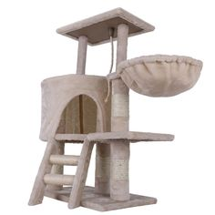I think my bunny rabbits would LOVE this! Confidence Pet Deluxe Cat Tree - Beige