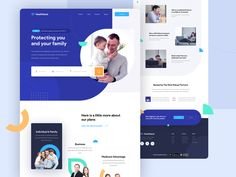 Healthland - Health Insurance Website Exploration by Sigit Setyo Nugroho for OWW on Dribbble Millenn Healthcare Website, Insurance Website, Team Challenges, Health Insurance Plans, Coach Me, Challenge Me, Home Based Business, Web Design Inspiration, For Your Health