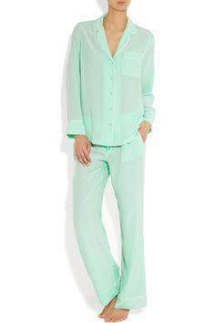 Equipment - Avery washed-silk pajama set ced4192e9