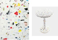 Shiro Kuramata Memphis Terrazzo, Trends, Shiro, Color Combinations, Fancy, Shapes, Flooring, Memphis, Table