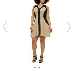 """color block dressNWT HP STYLE STAPLES BY JXCHAIREZ Very pretty and flattering has spandex to give extra wiggle room fits true to size.v neck sleeveless.MEASURES BUST 40"""" waist 34"""" hips 44"""" Dresses"""