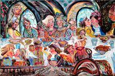 Bela Taraseiskey, Next year in Jerusalem, ©2007, acrylic on canvas, 24 x 36 inches