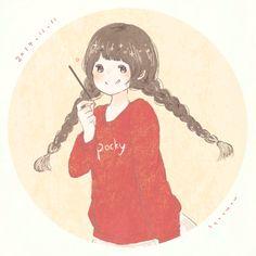 Pocky! Manga Anime, Anime Art, Cosplay Tumblr, Girl Cartoon, Studio Ghibli, Aesthetic Art, Japanese Art, Anime Girls, Chibi