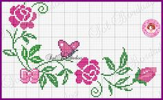 This Pin was discovered by Asi Cross Stitch Heart, Cross Stitch Borders, Cross Stitch Alphabet, Cross Stitch Flowers, Cross Stitch Designs, Cross Stitching, Cross Stitch Patterns, Ribbon Embroidery, Cross Stitch Embroidery