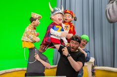 The puppets of Lazy Town. Cool.