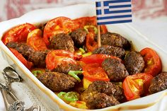 Soutzoukakia: Minced meat with baked potatoes Cookbook Recipes, Wine Recipes, Dessert Recipes, Cooking Recipes, Desserts, Mince Meat, Group Meals, Greek Recipes, Bon Appetit