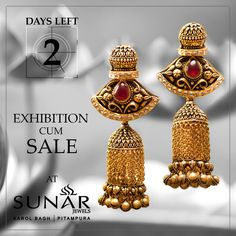 HURRY! DAYS LEFT 2 ONLY Sunar Jewels Offering Heavy Discounts On Gold & Diamond Jewelry With 99/- Rs. Making Charges, #Hurry #NowOpen #Exhibition #Sale #Sunar #SunarJewelsIndia