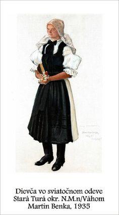 Slovenské kroje 036 Stará Turá Folk Costume, Costumes, Traditional Outfits, Folk Art, Two By Two, Goth, History, Dresses, Fashion
