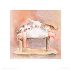 Full Body Massage Giclee Print by Erika Oller, Poster Art, Poster Prints, Art Prints, Massage Art, Baby Massage, Massage Pictures, Spa Art, Cat Bedroom, Vintage Poster