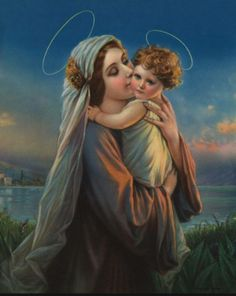 Oh my goodness! That's one of the sweetest paintings of Mary and Jesus that I've ever seen. :)