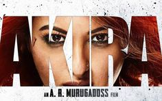 """Sonakshi Sinha has shared the first look of her Tamil remake movie, Akira. In the poster, Sonakshi is starring at us with Anurag Kashyap and Konkana Sen in the background. The tag line of the film shown in the poster is """"No one will be forgiven""""."""
