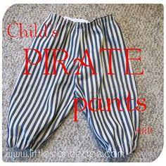 DIY Clothes DIY Childs Pirate Pants DIY Sleepwear