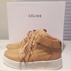 Authentic Céline tan leather sneakers Absolutely stunning! In perfect condition and fits US 7 Celine Shoes Sneakers
