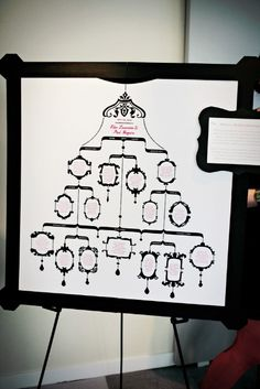 chandelier genealogy chart. this would make a great gift for mom!