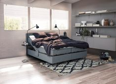 The jensen Dream Signature Bed Grey Bedrooms, Signature Collection, Scandinavian Design, Comforters, Beds, Sleep, Inspiration, Furniture, Home Decor