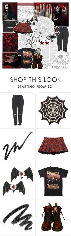 """🕹 This Isn't A Game Take Me Seriously 🕹"" by amberishdead ❤ liked on Polyvore featuring Topshop, Chanel, Forever 21, Kreepsville 666, Sebastian Professional, Yves Saint Laurent and Dr. Martens"