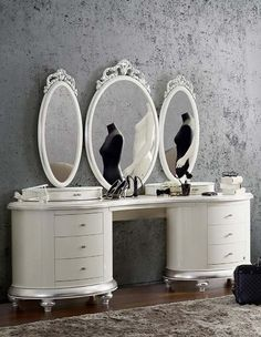oval vanity