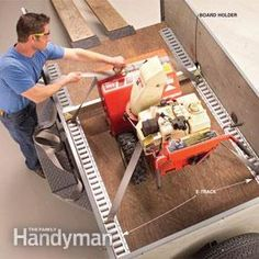 Utility Trailer Upgrade - metal strip on sides for tie-downs