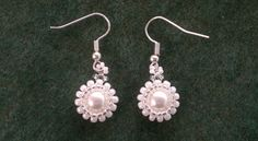 Beading4perfectionists: Classy - stunning - easy to make pearl earrings ...