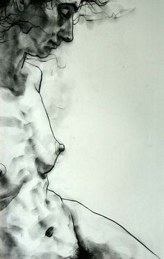 phillipdvorak: One of my figure drawings - charcoal on paper (20 minute pose).
