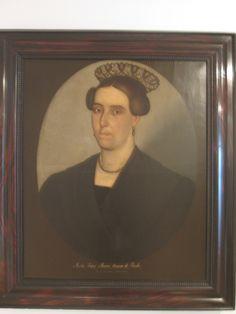 RETRATO POSVIRREINAL Luis Garcia Hevia Bogotá Cundinamarca 1816-1887  Maria Tadea Alvarez Lozano de Pardo  1837 Oleo sobre tela