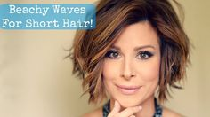 Beachy Waves for Short Hair! - YouTube