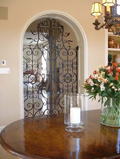 Interior doors from Heritage Ironworks...great for blocking off rooms for parties