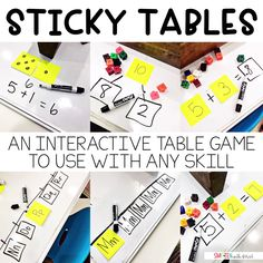 Sticky Tables Classroom Game (a classroom game to use with any skill)