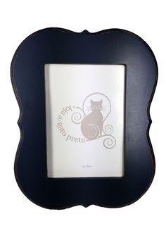 A Loja do Gato Preto | Moldura Etiqueta Azul 13x18 #alojadogatopreto