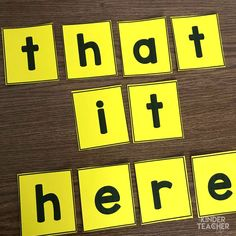 Sight word activity - mix up the letters and have another student put them in correct order. Teaching Sight Words, Sight Words List, First Grade Sight Words, Sight Word Practice, Sight Word Games, Sight Word Activities, Literacy Activities, Kindergarten Special Education, Kindergarten Fun