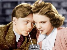 """Mickey Rooney and Judy Garland in the 1939 film """"Babes in Arms."""""""