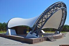 PVC roof open space theatre Stezyca/Poland Pvc Roofing, Sydney Harbour Bridge, Poland, Theatre, Space, Architecture, Travel, Floor Space, Arquitetura