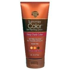 Amazing.  Shave legs, then put on regular body lotion.  When that is dry, apply the tanning cream to legs.  It's tinted, so it's pretty easy to see where you've applied.  Let dry for 20 minutes, then apply a second, thin coat of body lotion.