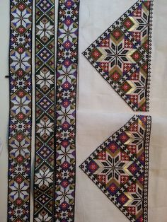 Hardanger Embroidery, Indian Embroidery, Beaded Embroidery, Bead Crafts, Arts And Crafts, Palestinian Embroidery, Tapestry Crochet, Beading Patterns, Needlepoint