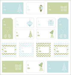 Atlanta Wedding Planner | Laura Birney Events Blog | Atlanta Wedding Coordinator: Freebies: Holiday Gift Tag Printables